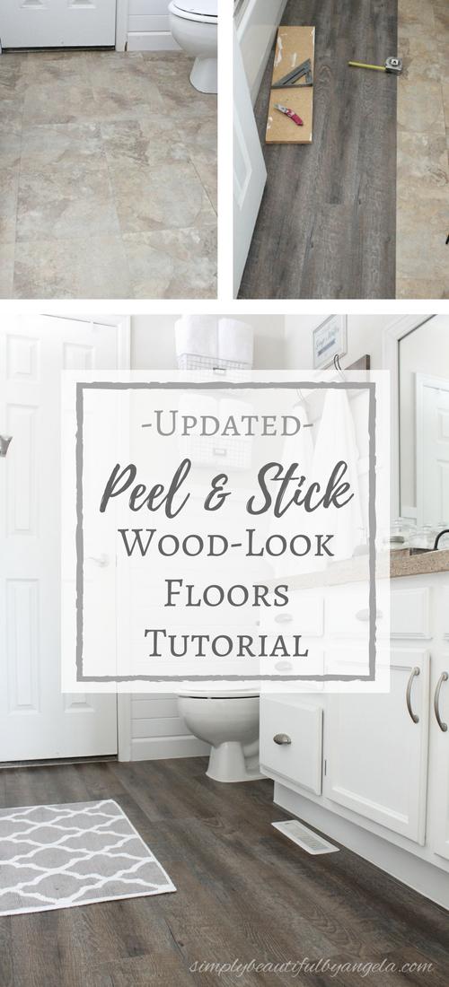 peel sick wood look floors tutorial
