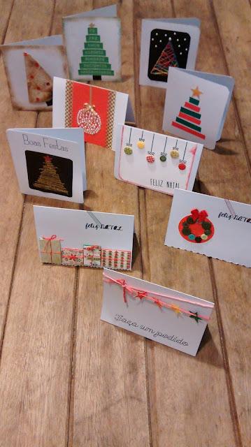 Cartões Artesanais - Ateliê Memórias e Retalhos