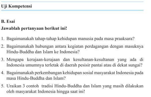 Jawaban Esai Uji Kompetensi Bab 4 Halaman 283 Ips Kelas 7 Masyarakat Indonesia Pada Masa Praaksara Bastechinfo