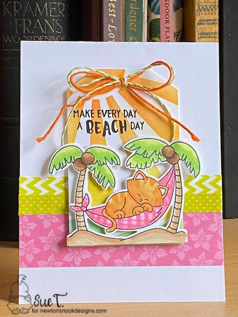 Make everyday a beach day by Sue features Sunscape, Fancy Edges Tag, and Aloha Newton by Newton's Nook Designs; #newtonsnook