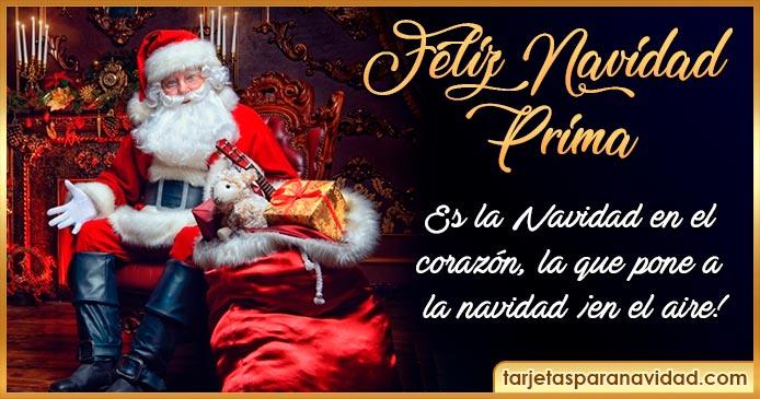 feliz navidad prima