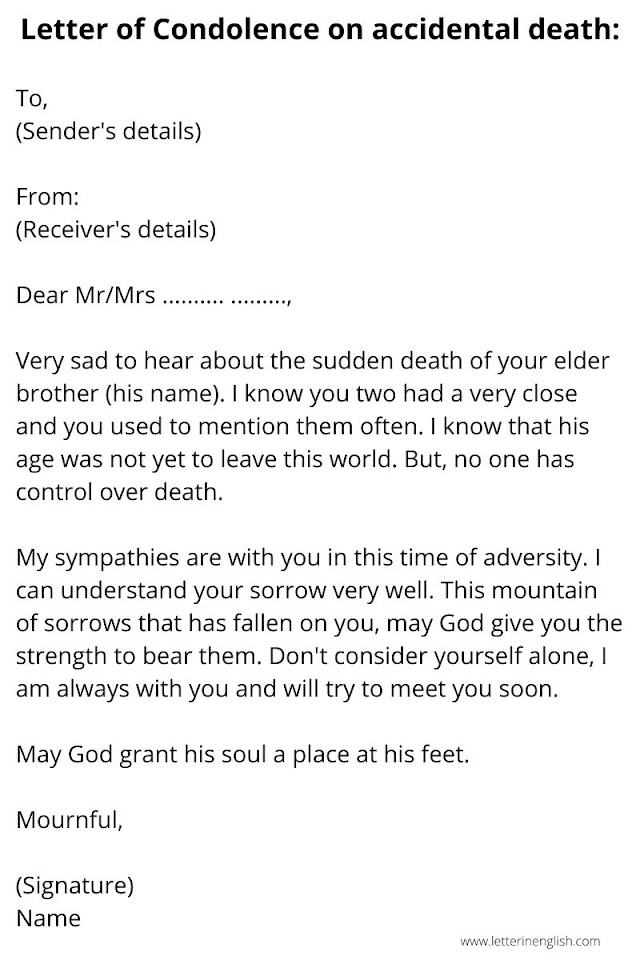 Letter of Condolence to Express Sympathy | Best 3 Samples of Condolence letter