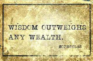 Greek saying wisdom not wealth