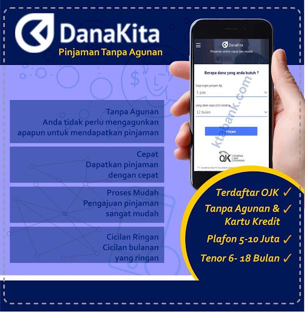Review fintech pinjaman online tanpa agunan DanaKita PT Data Prima bukan dari bank danamon maupun koperasi tapi P2P Lending