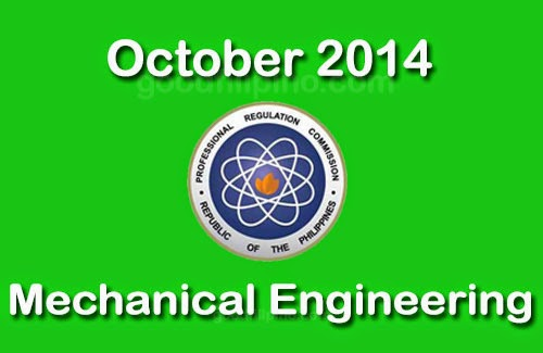 List of Passers: Mechanical Engineering on October 2014