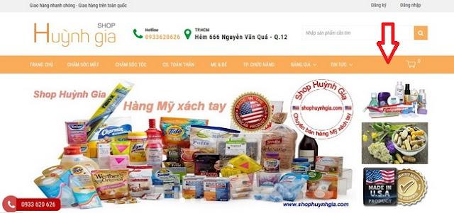 Hướng dẫn mua hàng Mỹ xách tay www.shophuynhgia.com