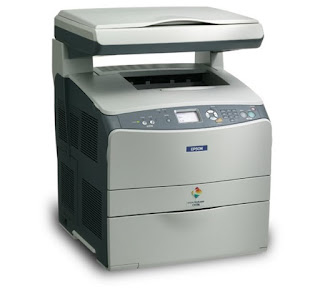 One combines a colouring cloth inkjet printer every bit good every bit a scanner Epson AcuLaser CX11N Driver download, review, price