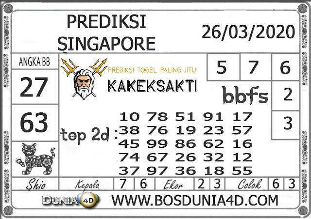 Prediksi Togel SINGAPORE DUNIA4D 26 MARET 2020