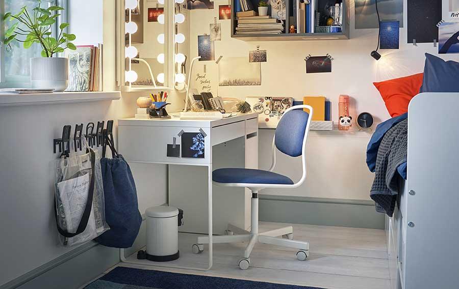 catálogo ikea 2020 dormitorio juvenil escritorio blanco y tocador