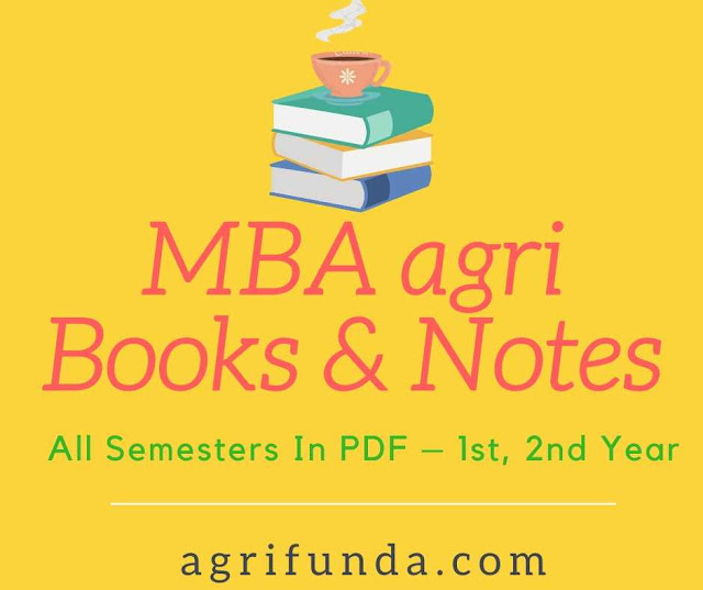 MBA agri  Books & Notes For All Semesters In PDF – 1st, 2nd Year