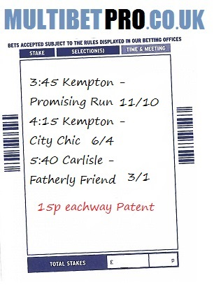 Lucky 15 betting slip template alien racing betting games