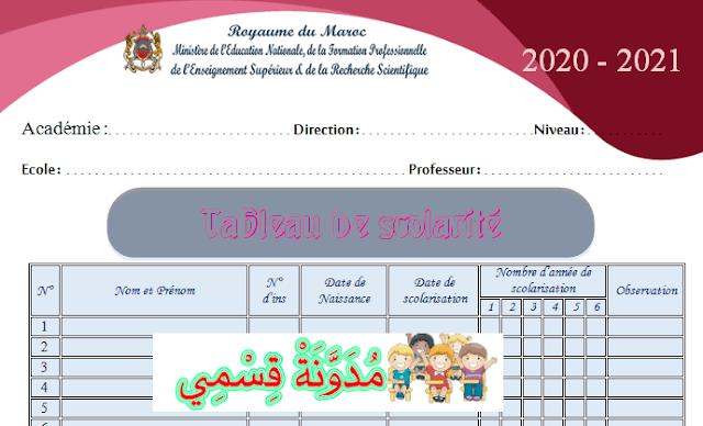 جدول الدراسة فرنسية 2020-2021