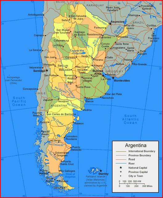 Gambar Peta Argentina