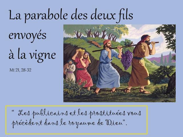 Caté : la Parabole des deux fils envoyés à la vigne