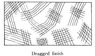 Dressing of stones Dragged finish