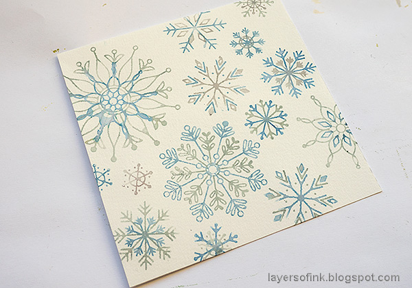 Layers of ink - Snowflake Builder Card Tutorial by Anna-Karin Evaldsson.