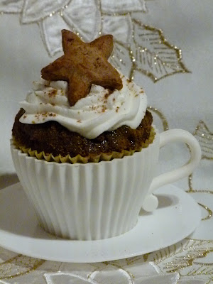 Weihnachten Cupcake Gewürzkuchen Bratapfel Rezept