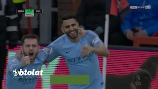شاهد هدف رياض محرز ضد بورنموث بالدوري الانجليزي 02-03-2019