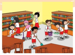 menjaga kebersihan perpustakaan www.simplenews.me