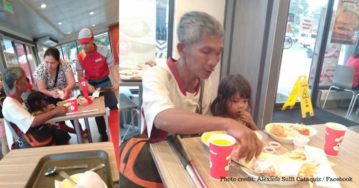 Woman's Secret Act of Kindness for Beggar Father and Daughter Goes Viral