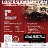 Walk In Interview at Kintang Buffet Hotel Surabaya November 2019