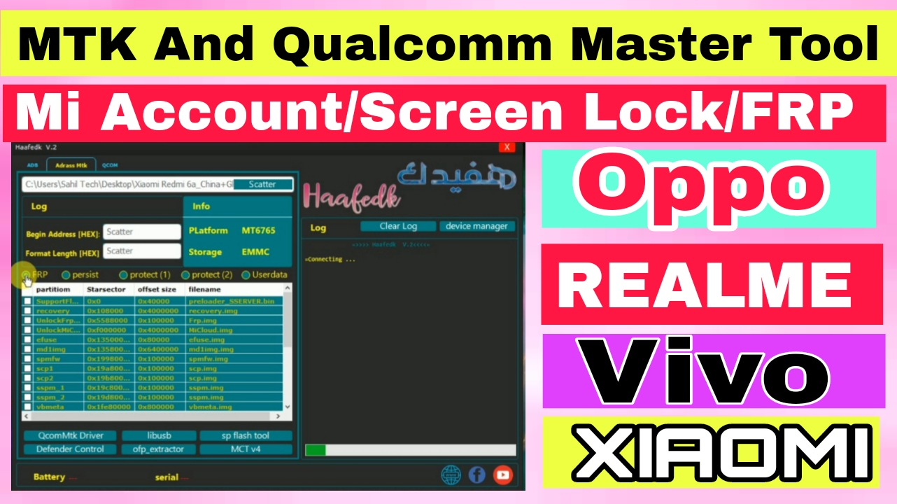 Haafedk v2 Latest Version | Support MTK Auth Bypass | Qcom Screenlock | Free Download