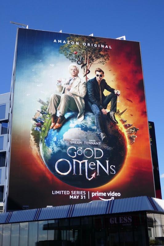 Giant Good Omens series billboard
