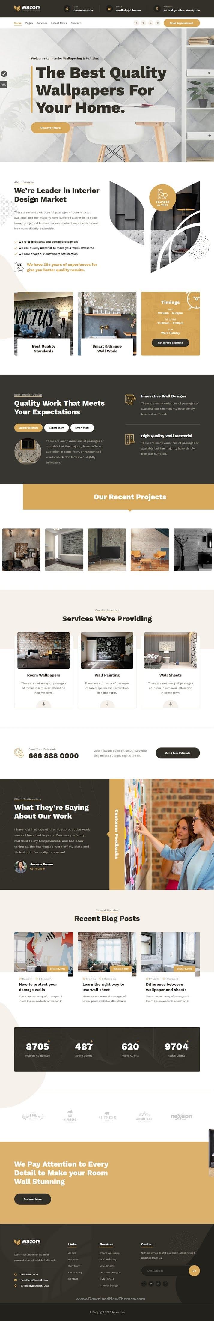 Painting & Wallpapering WordPress Theme