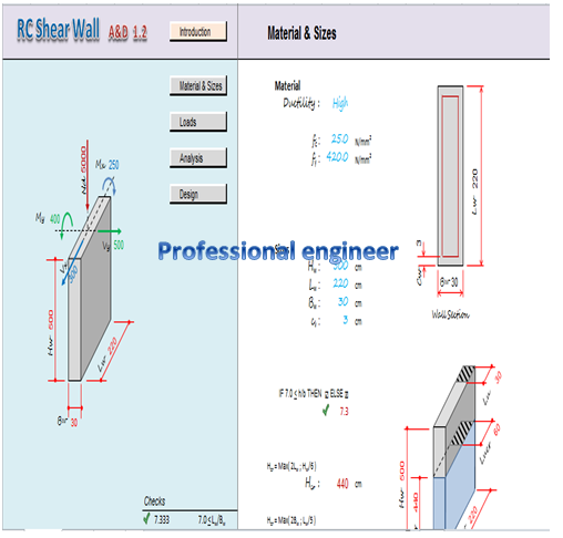 Important excel sheet for design sheer wall