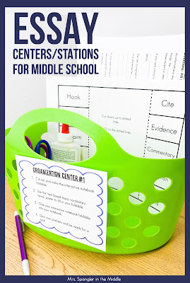 Find out how centers/stations increase engagement in the middle school classroom!  #studentchoice #teaching