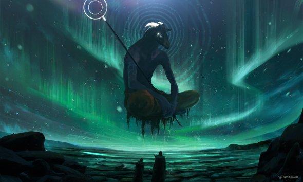 Borisut Chamnan  artstation arte ilustrações fantasia sombria cenários grandiosos titãs