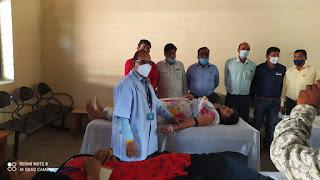 पंडित बालकृष्ण शर्मा नवीन शासकीय महाविद्यालय में रक्तदान हुआ