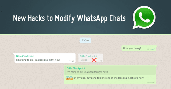 how to hack whatsapp account to modify whatsapp chat history