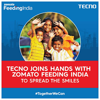 Tecno mobile collaboration with Zomato for provide ration kit