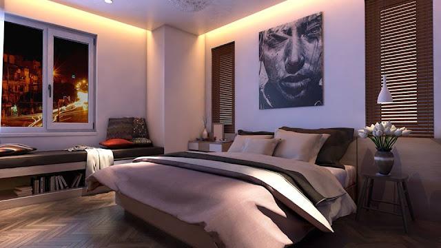 Bedroom Free Sketchup Interior Scene , sketchup models , 3d model sketchup , free sketchup models , 3d rendering , 3d modelling , sketchup vray render