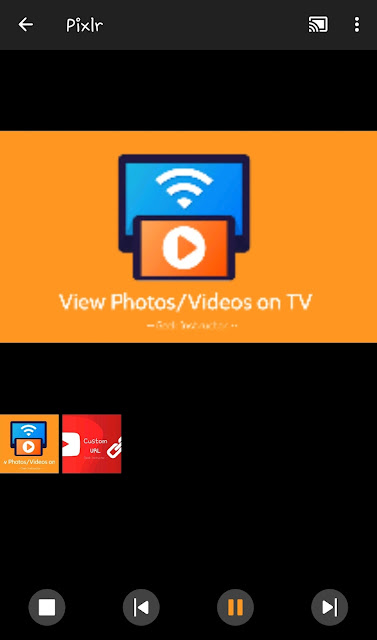 Play photos as slideshow on TV