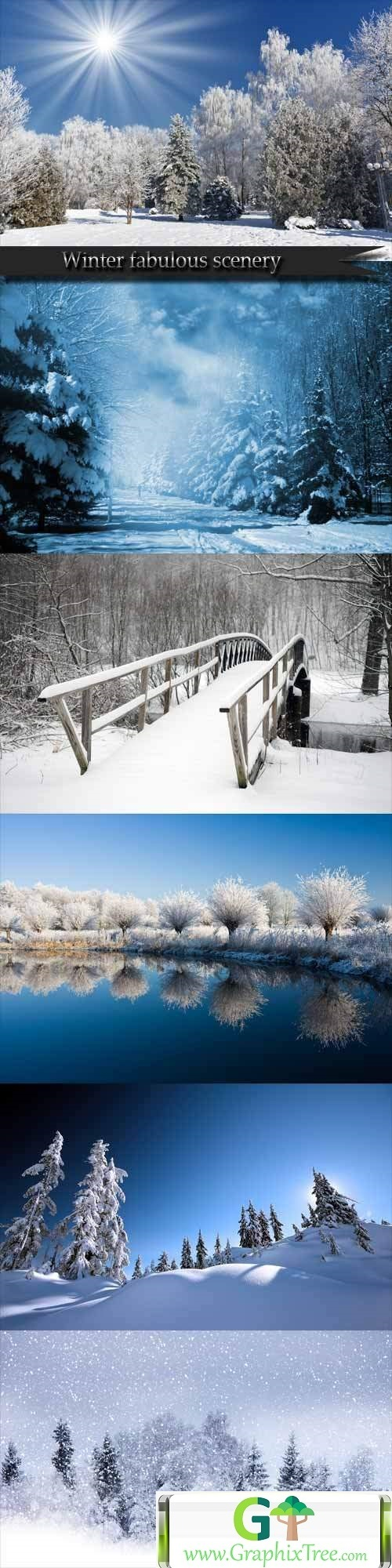 Winter fabulous scenery