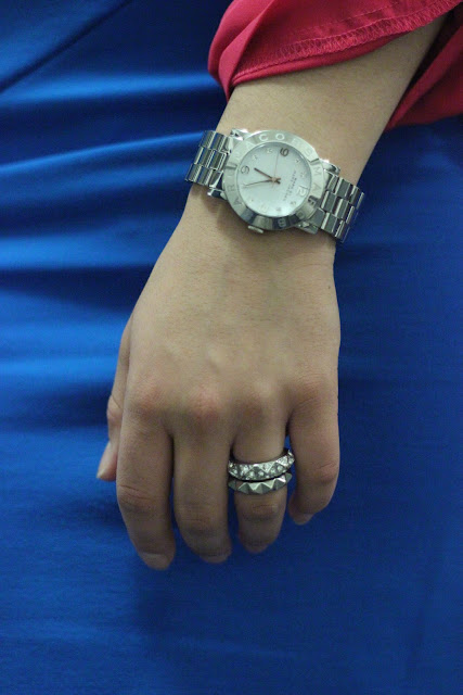 Marc Jacobs Watch and Stacked Rings