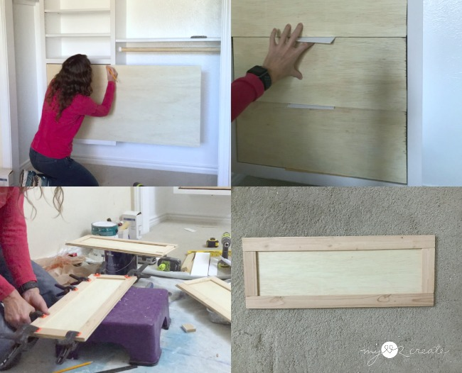 Building drawer fronts and attaching them to installed drawers, MyLove2Create
