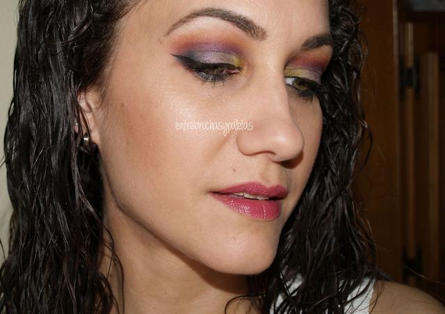 maquillaje colorista desigual