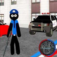 US Police Stickman Rope Hero Vegas Mod Apk