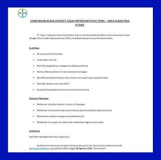 District Sales representative di PT Bayer Indonesia