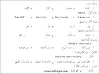 Soal PTS MI Kelas 3 B. Arab Semester 1 Th. 2019