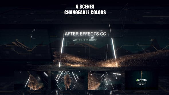 Hi-Tech Golden Runner Opener[Videohive][After Effects][29028470]