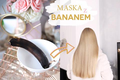 Bananowa maska do włosów DIY - sypkie, gładkie i puszyste włosy - czytaj dalej »