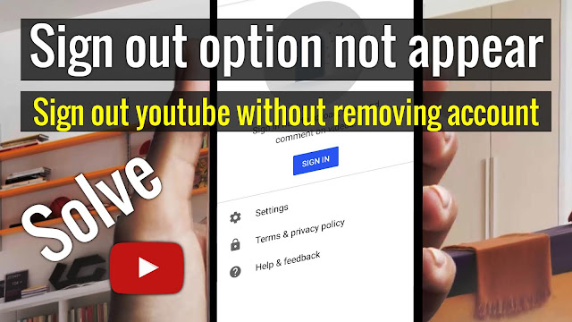 How to sign out option in new youtube app 2019 - Best tutorials