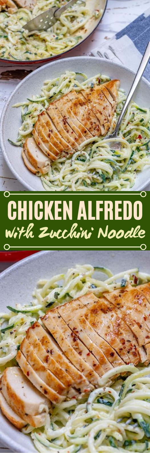 Easy Chicken Alfredo with Zoodles #healthy #keto