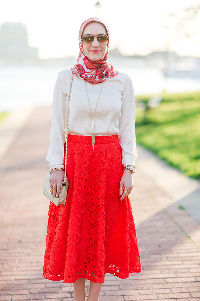 A Day In The Lalz: Red Lace Midi