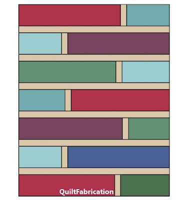 Quarter Cut quilt pattern layout by QuiltFabrication