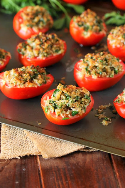 Parmesan Broiled Tomatoes are an easy side dish to make with fresh tomatoes.
